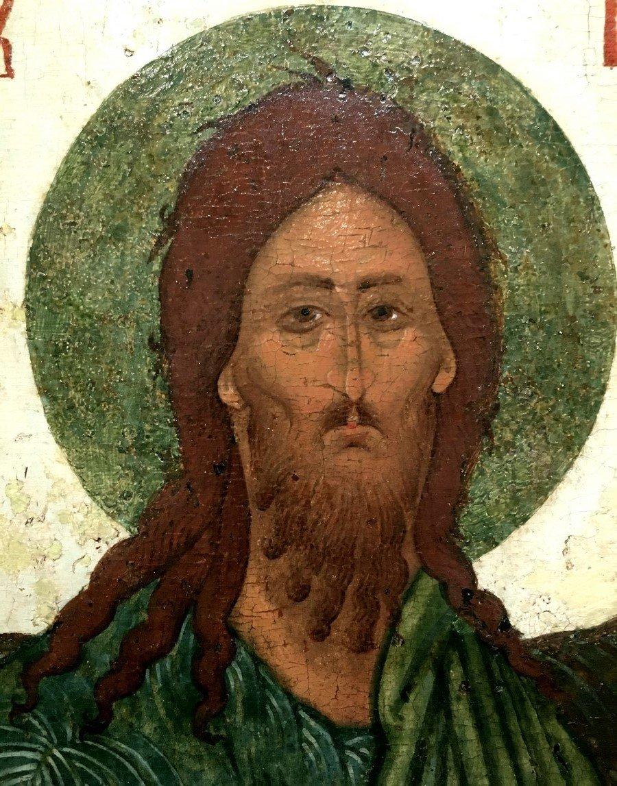 Святой Иоанн Предтеча. Фрагмент иконы ростовской школы XVI века.