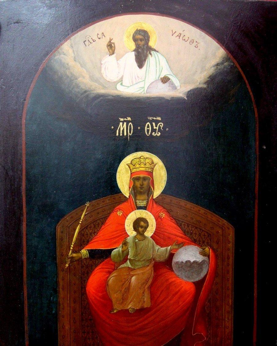Державная икона Божией Матери. Россия, начало XX века (после 1917 года).