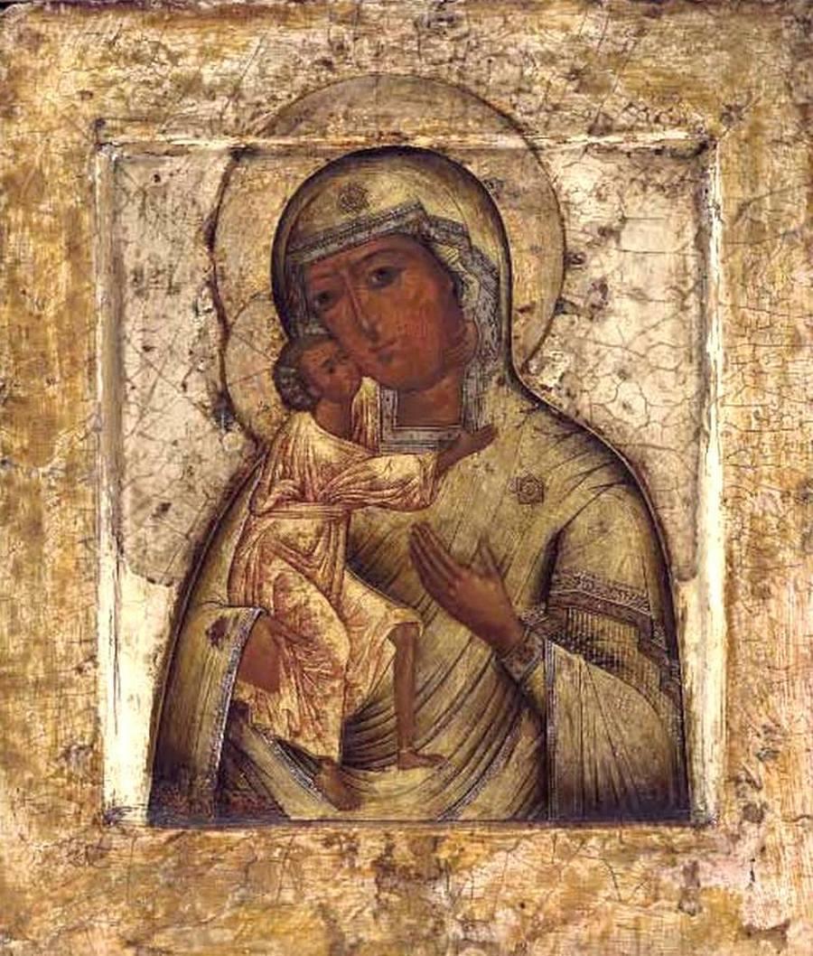 Феодоровская икона Божией Матери. Москва, XVII век.