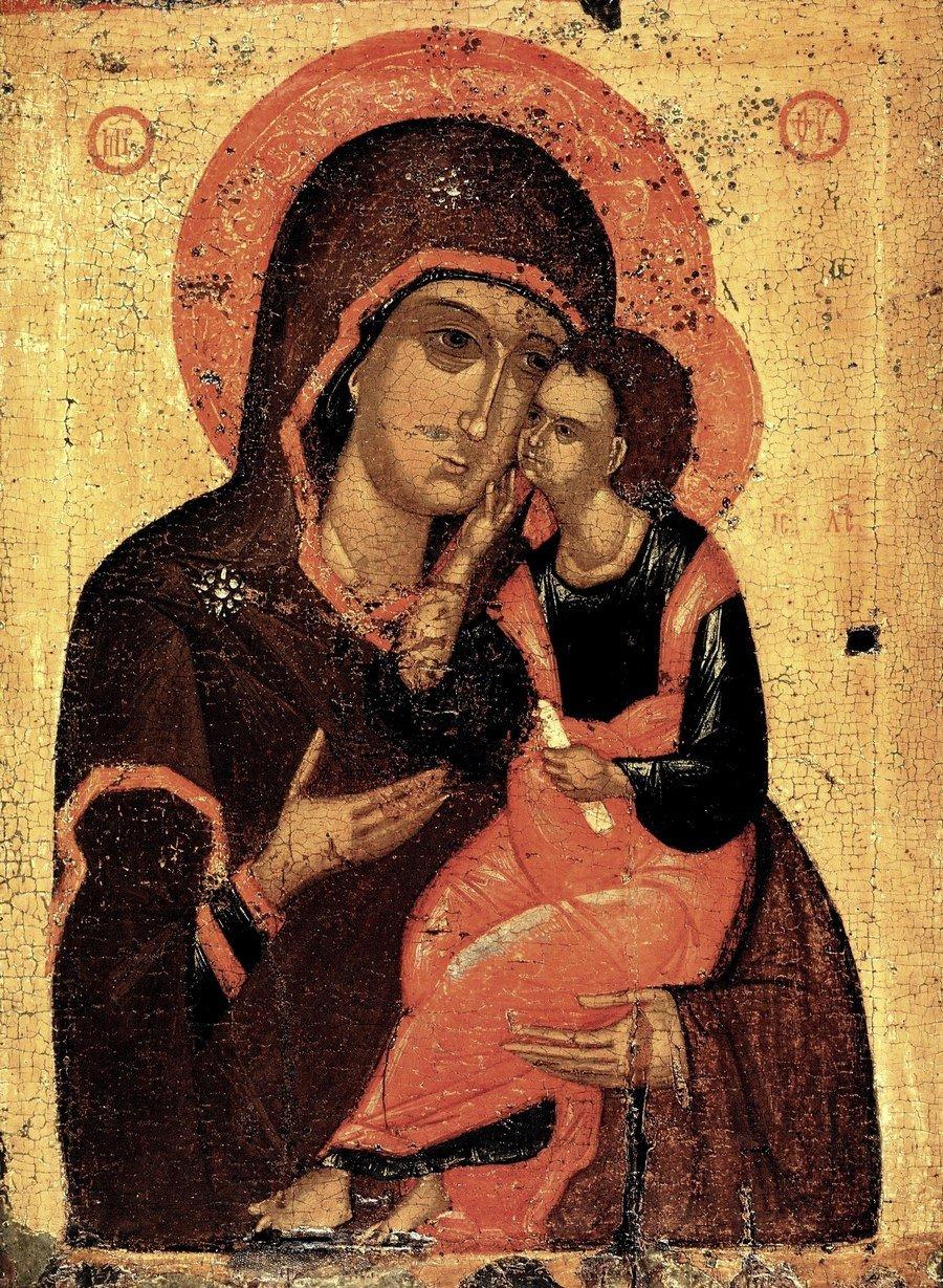 Чудотворная Любятовская икона Божией Матери. Псков, середина XV века.