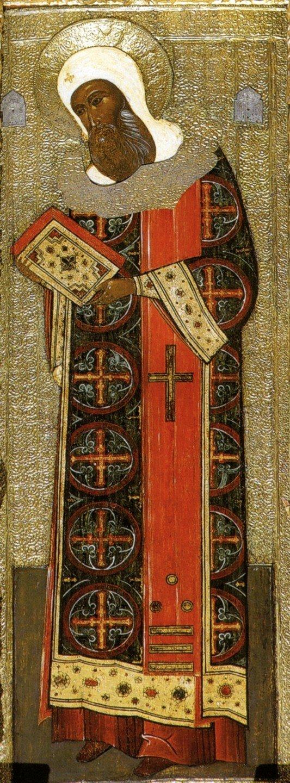 Священномученик Ипатий, Епископ Гангрский. Икона. Россия, 1652 год.