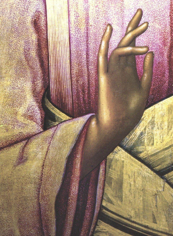 Господь Вседержитель. Иконописец Симон Ушаков. 1668 год. Фрагмент иконы.