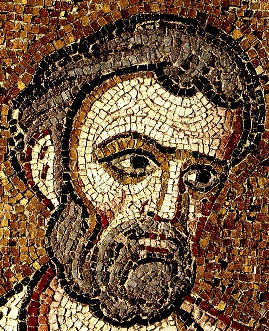 Святой Апостол и Евангелист Марк. Фрагмент мозаики из Михайлова Златоверхого монастыря. Около 1108 года.