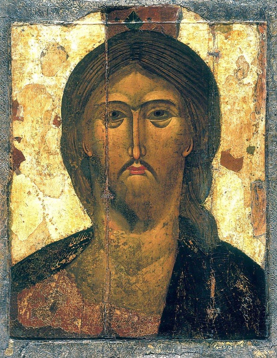 Оплечная икона Спасителя. Москва, первая треть XIV века. Успенский собор Московского Кремля.
