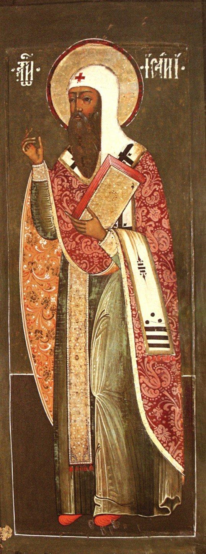 Святитель Исаия, Епископ Ростовский, Чудотворец. Икона второй половины XVII века.