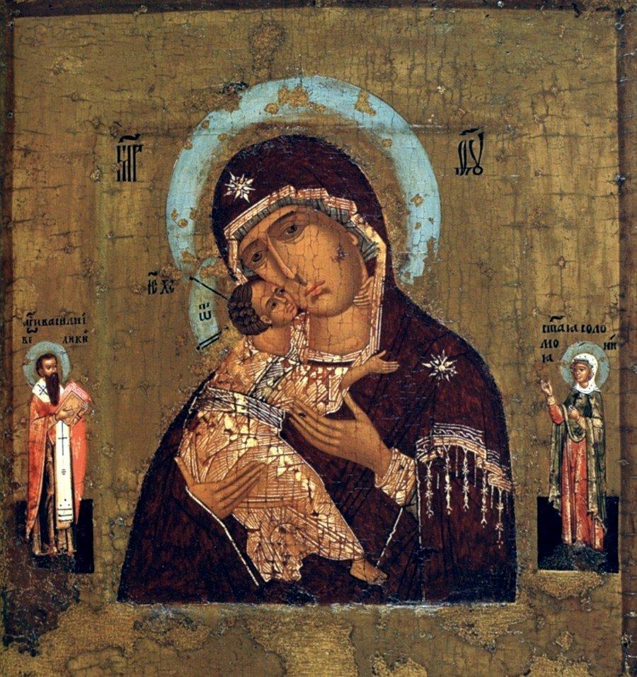 Владимирская икона Божией Матери. Москва, 1560 - 1570-е годы.