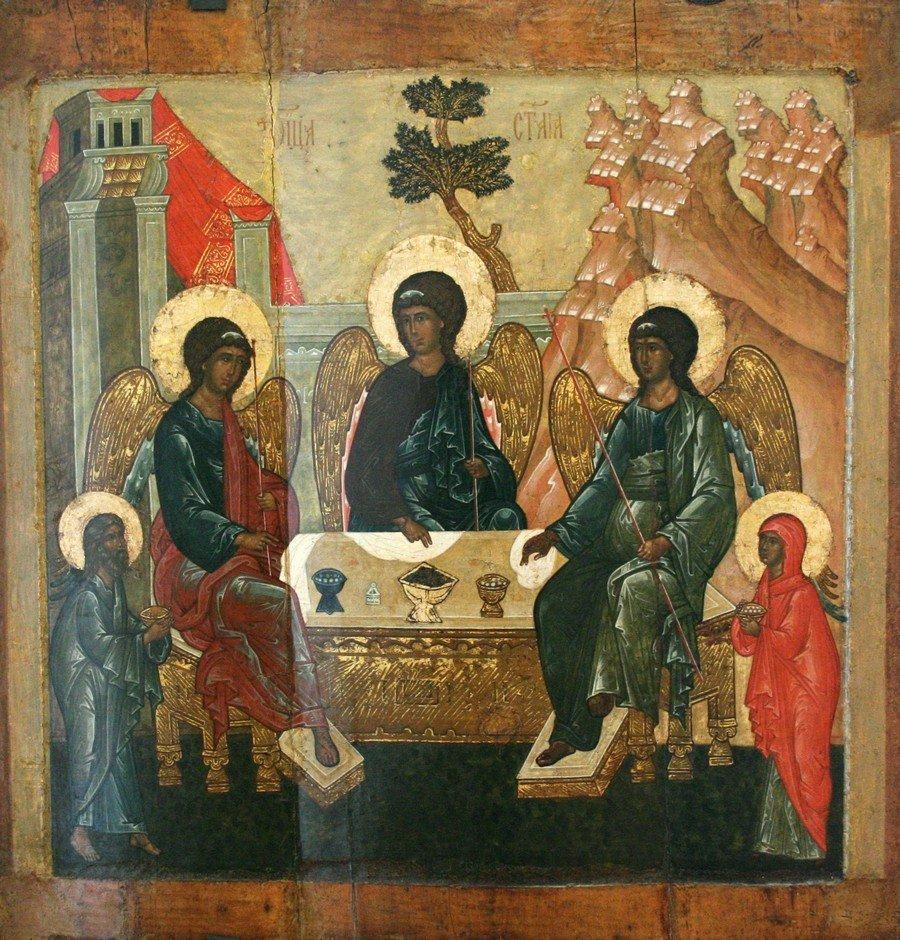 Пресвятая Троица. Икона. Ярославль, середина XVI века.