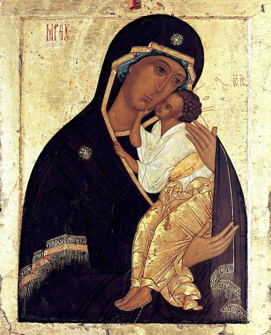Ярославская икона Божией Матери. XVI век.