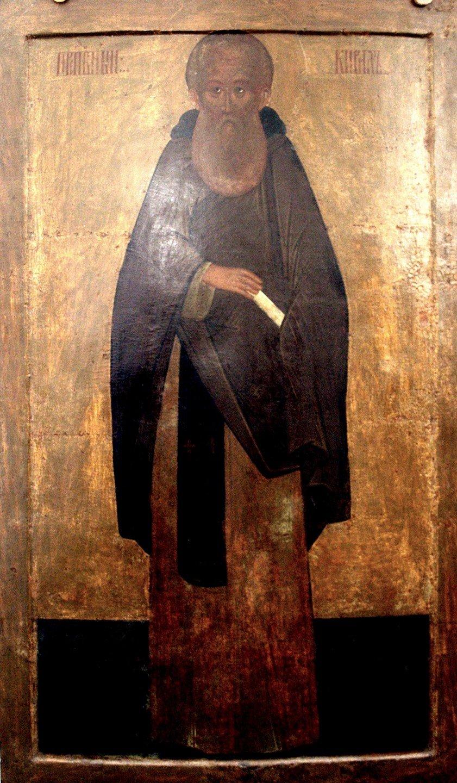 Святой Преподобный Кирилл, игумен Белозерский, Чудотворец. Икона из Кирилло-Белозерского монастыря.