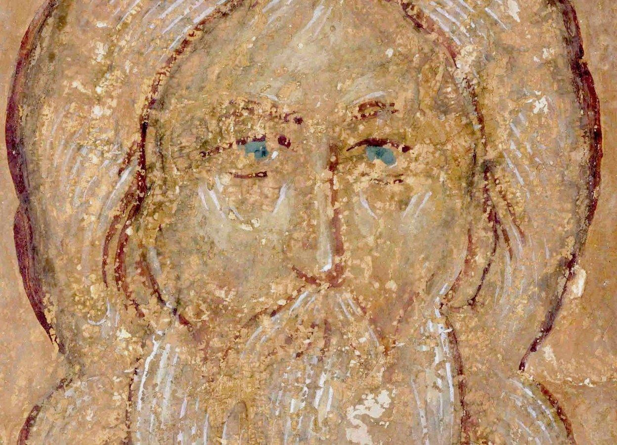Праотец Рувим. Фреска Дионисия в соборе Рождества Пресвятой Богородицы Ферапонтова монастыря. 1502 год.