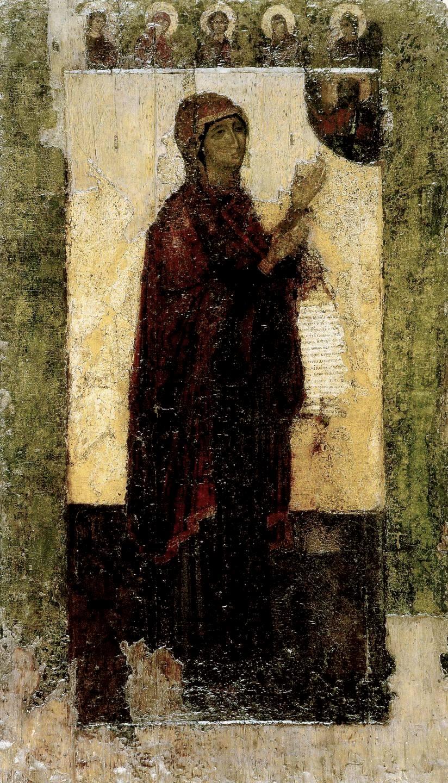 Чудотворная Боголюбская икона Божией Матери. 1158 - 1174 годы.