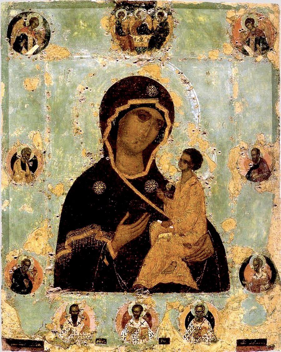 Тихвинская икона Божией Матери. XVI век.