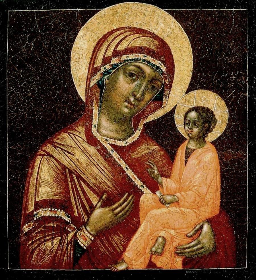 Тихвинская икона Божией Матери. Москва, 1763 год. Иконописец Иван Бессонов.