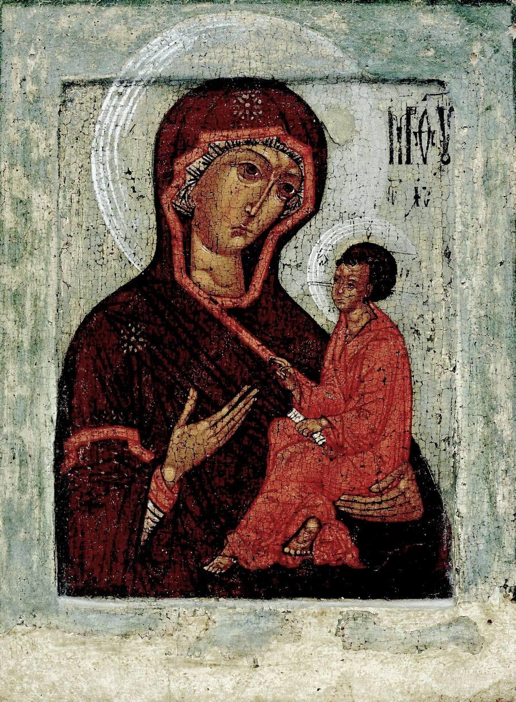 Тихвинская икона Божией Матери. Москва, середина XVI века.
