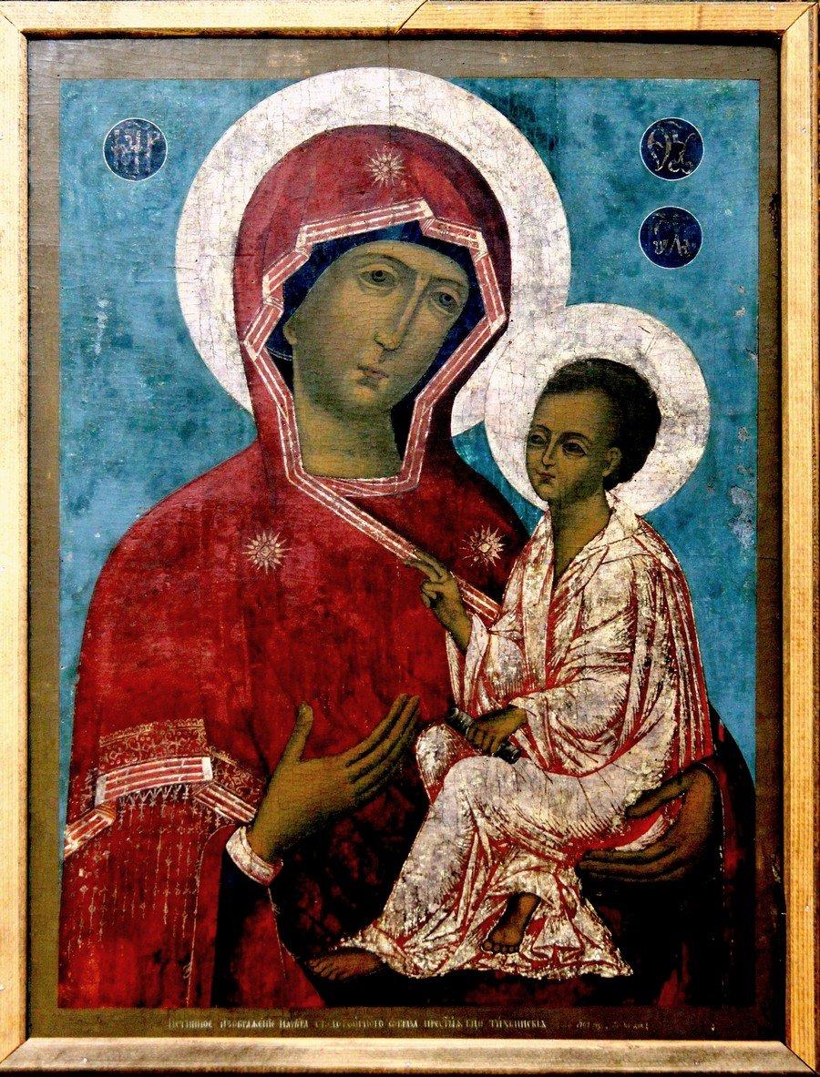 Тихвинская икона Божией Матери. Великий Устюг, XVIII век.