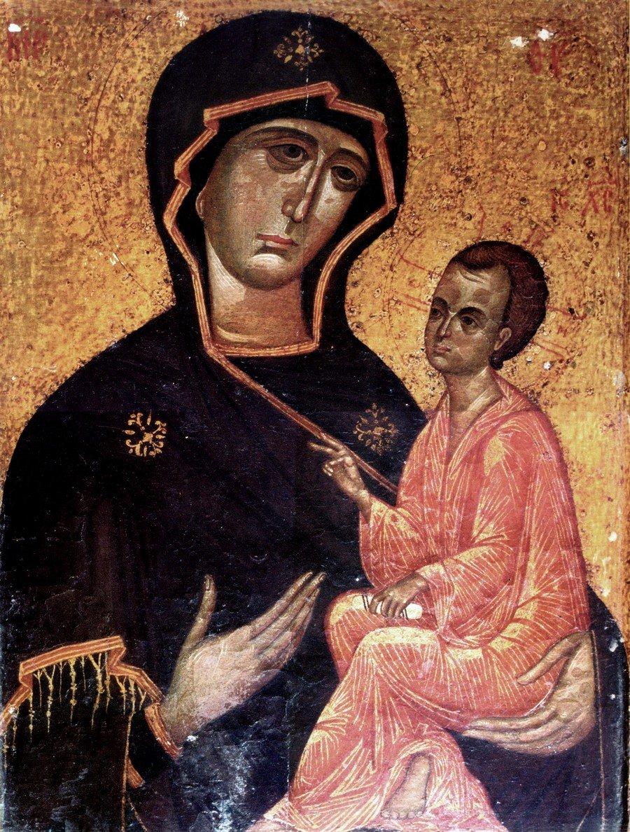 Чудотворная Тихвинская икона Божией Матери.