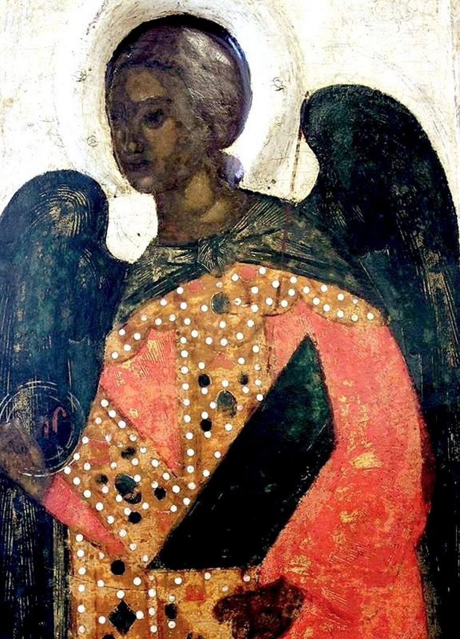 Архангел Гавриил. Фрагмент иконы. Псков, около 1444 года.
