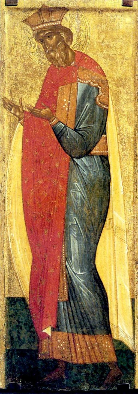 Святой Равноапостольный Великий Князь Владимир, Креститель Руси. Икона. Новгород, XV век.