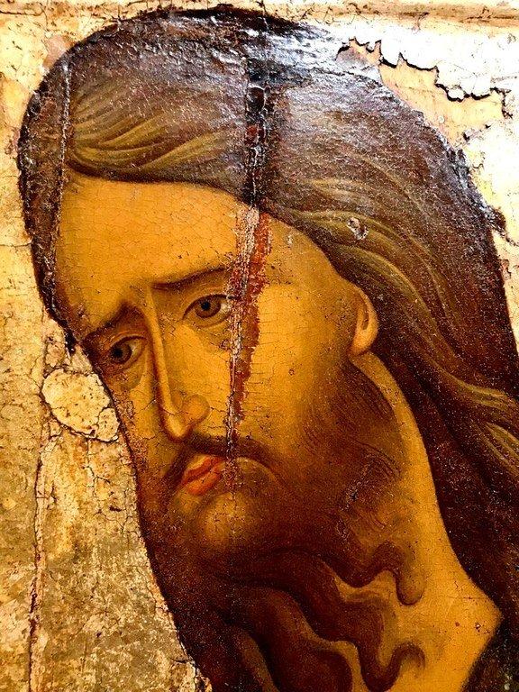 Святой Иоанн Предтеча. Икона. Москва, XV век. Лик.