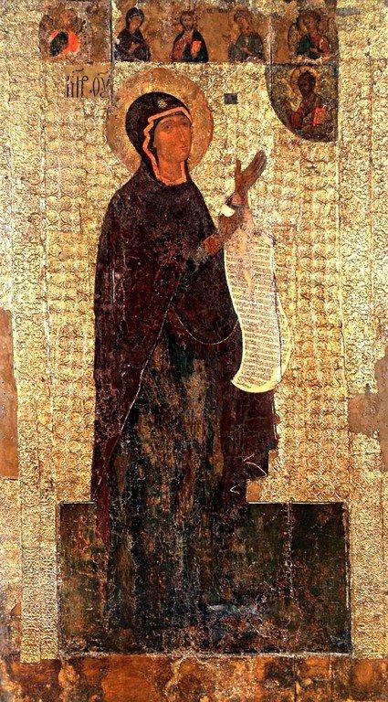 Боголюбская икона Божией Матери. XVI век.