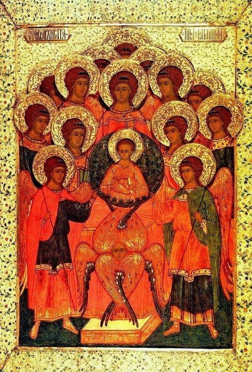 Собор Архангела Гавриила. Икона. Россия, XVI век.