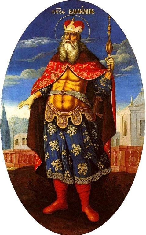 Святой Равноапостольный Князь Владимир. Икона из иконостаса Петропавловского собора в Санкт-Петербурге. 1729 год.