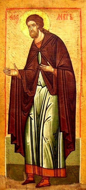 Святой Мученик Лавр Иллирийский. Икона. Русский Север.
