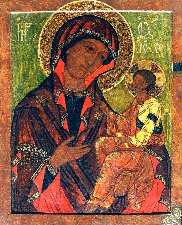 Грузинская икона Божией Матери. Русский Север, середина XVII века.