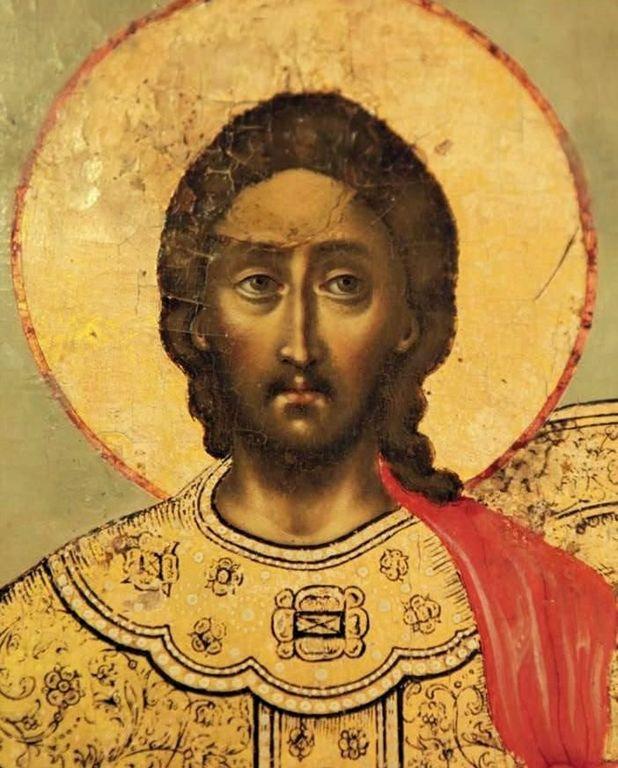 Святой Великомученик Никита Готфский, с житием. Русская икона. Лик Святого.
