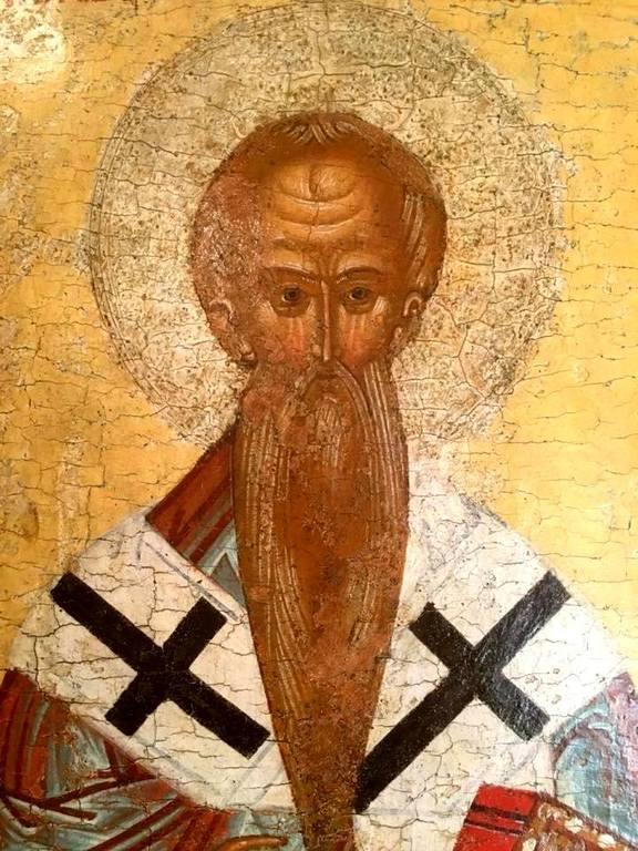 Святой Апостол Иаков, брат Господень. Фрагмент новгородской иконы XV века.