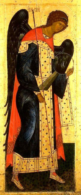 Архангел Михаил. Икона из Кирилло-Белозерского монастыря. Около 1497 года.