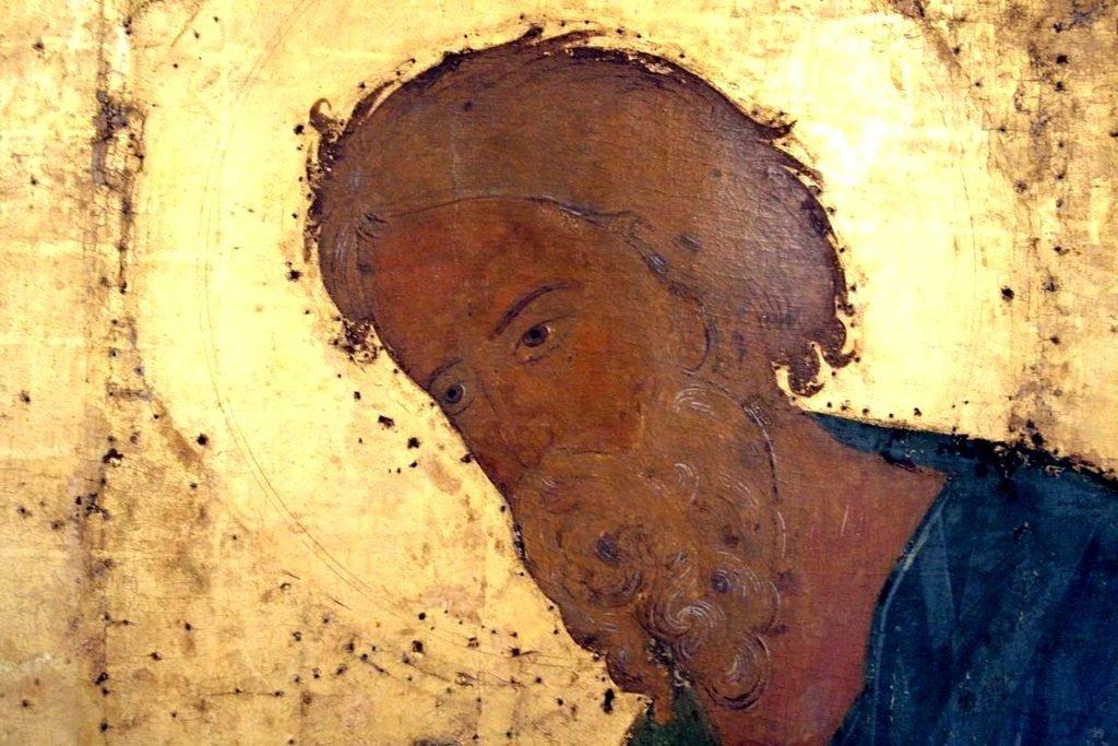Святой Апостол Андрей Первозванный. Икона из Кирилло-Белозерского монастыря. Около 1497 года. Лик.