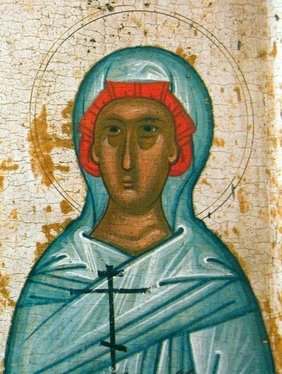 Святая Великомученица Анастасия Узорешительница. Фрагмент новгородской иконы XV века.