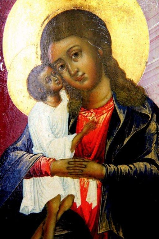 """Икона Божией Матери """"Взыскание погибших"""". Фрагмент."""