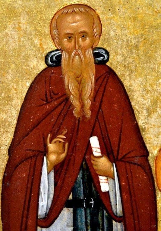 Святой Преподобный Иоанн Лествичник. Фрагмент новгородской иконы конца XV века.