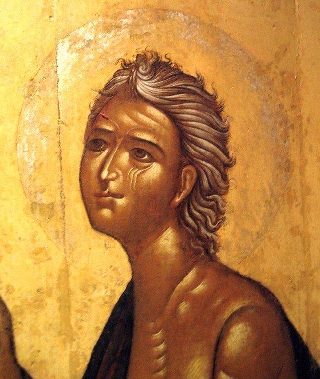 Святая Преподобная Мария Египетская. Фрагмент русской иконы XVII века.