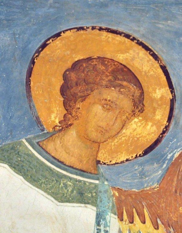 Ангел-диакон. Фреска Дионисия в соборе Рождества Пресвятой Богородицы в Ферапонтовом монастыре. 1502 год.