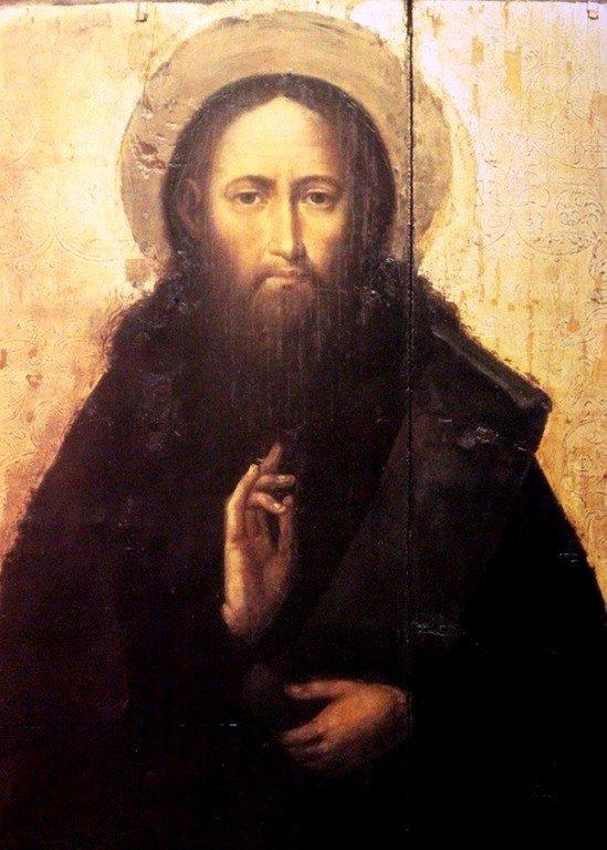 Святой Преподобный Феодосий Печерский. Икона в Киево-Печерской Лавре.