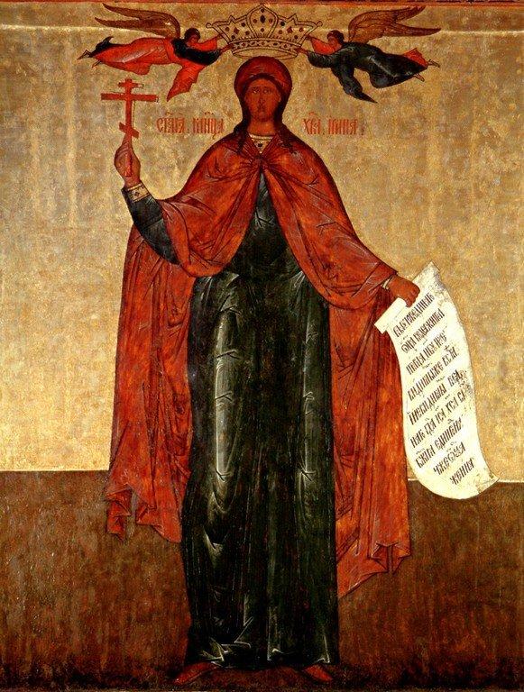 Святая Великомученица Ирина Македонская. Икона. Россия, 1596 год.