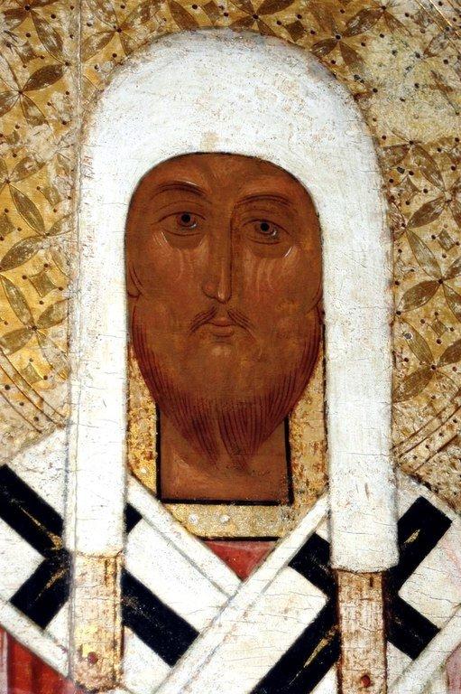 Святитель Леонтий, Епископ Ростовский. Фрагмент новгородской иконы XV века.