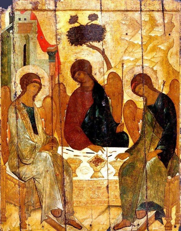 Пресвятая Троица. Икона. Москва, XVI век.