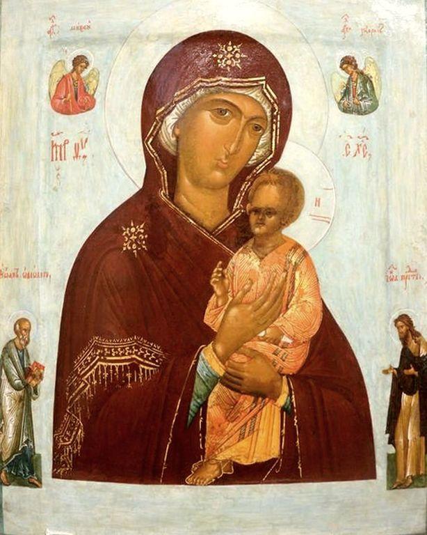 Пименовская икона Божией Матери. Русский список XVI века.