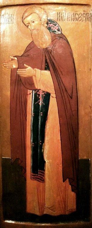 Святой Преподобный Кирилл Белозерский. Икона из Нило-Сорской пустыни. XVII век.
