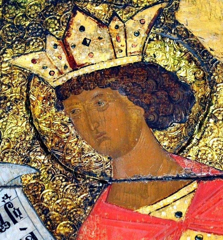 Святой Пророк Царь Соломон. Фрагмент иконы из Ферапонтова монастыря. Мастерская Дионисия, 1502 год.