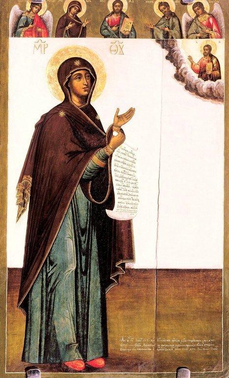 Боголюбская икона Божией Матери. 1712 год. Иконописец Кирилл Уланов.
