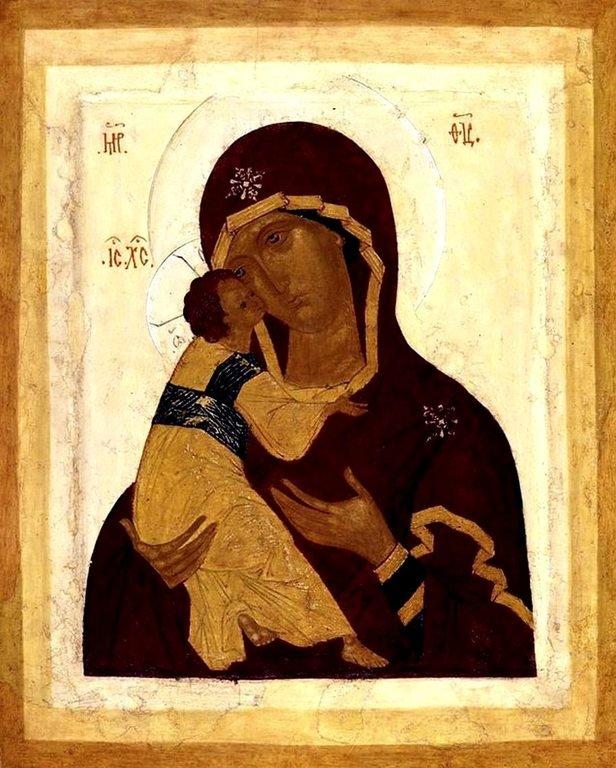 Владимирская икона Божией Матери. Россия, XVI век.