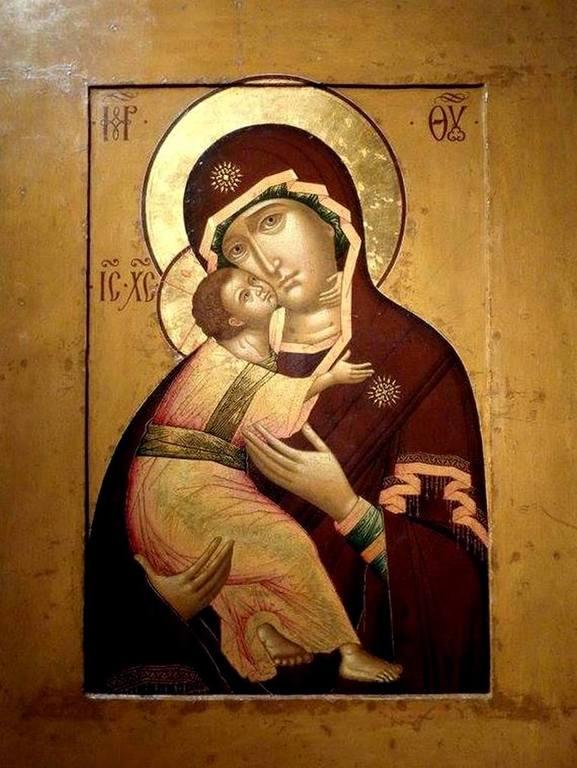 Владимирская икона Божией Матери. Иконописец Симон Ушаков. 1652 год.