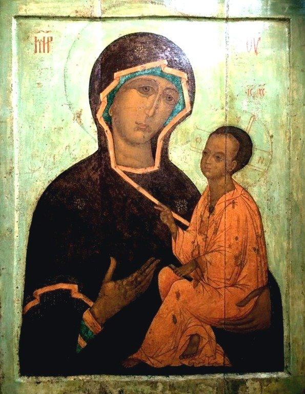 Тихвинская икона Божией Матери. Москва, XVI век.