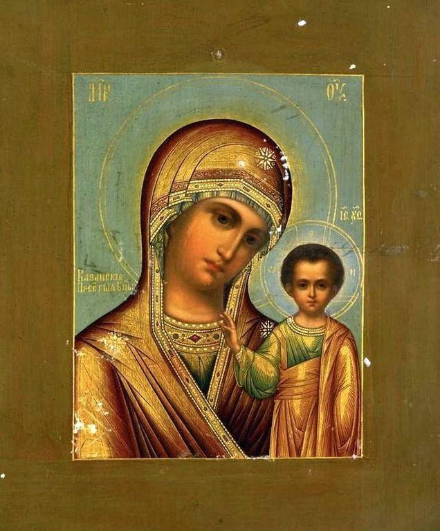 Казанская икона Божией Матери. Россия, XIX век.