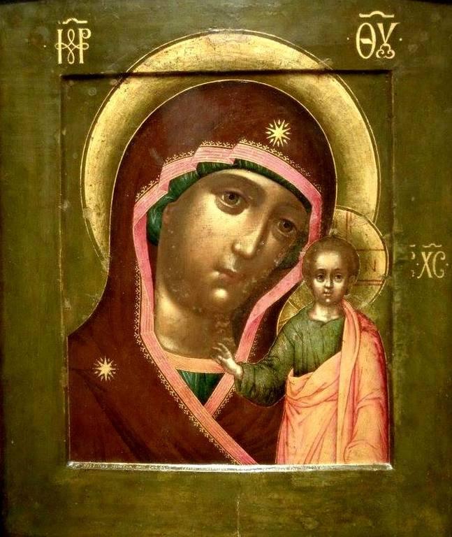 Казанская икона Божией Матери. Иконописец Симон Ушаков. 1658 год.